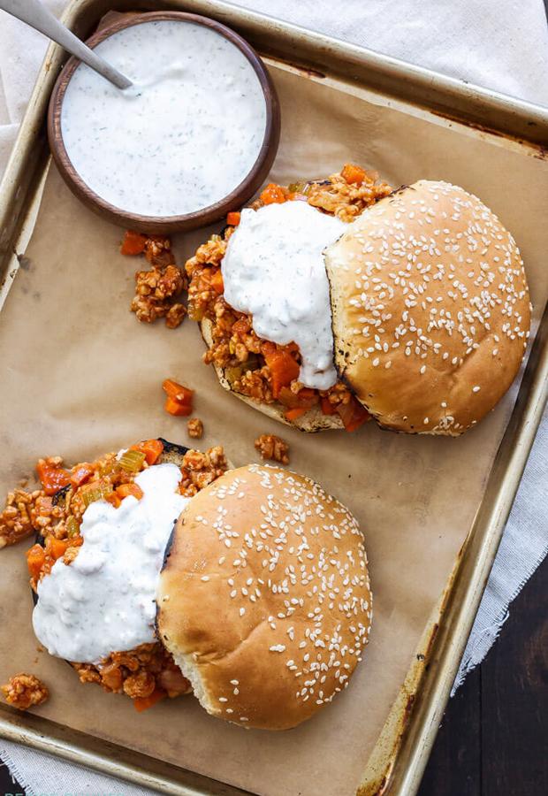 Ground Turkey Recipes: Buffalo Chicken Sloppy Joes