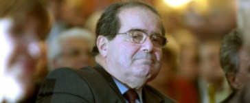 US Supreme Court Justice Scalia sits in the audience at a National Italian American Foundation event in Washington