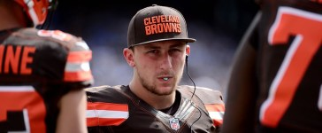 Quarterback Johnny Manziel of the Cleveland Browns (Photo by Donald Miralle/Getty Images)