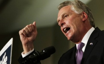 Virginia Democratic governor-elect Terry McAuliffe speaks to supporters during his election night victory rally in Tyson's Corner, Virginia November 5, 2013. REUTERS/Gary Cameron