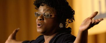 U.S. Rep. Gwen Moore addresses a luncheon of Emily's List at the Hilton Washington Hotel (Getty Images)