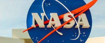 NASA sign at the entrance of the Kennedy Space Center in Cape Canaveral, Fla