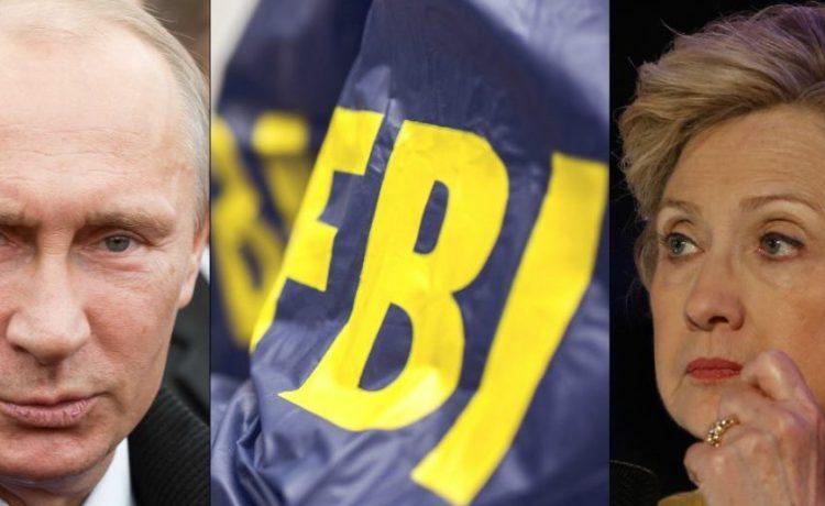 FBI: debradacija/ Shutterstock.com Putin: Timofeev Sergey / Shutterstock.com Hillary Clinton, a katz / Shutterstock.com