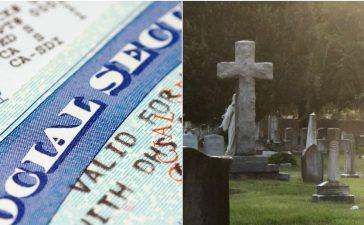 Social Security Card: Chuckstock/shutterstock.com, Cemetery: Sherry V Smith/shutterstock.com