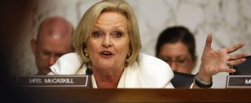 U.S. Sen. Claire McCaskill at a Senate Armed Services Committee in Washington