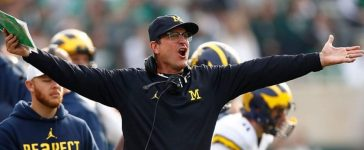 Jim Harbaugh (Credit: Getty Images/Gregory Shamus)