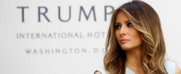 Melania Trump attends a campaign event in Washington, DC (REUTERS/Carlo Allegri)