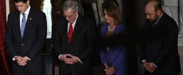 Congressional leadership praying September 21, 2016 in Washington, DC. Photo: Win McNamee /Getty