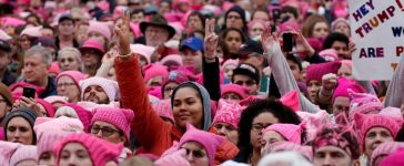 People gather for the Women's March (Credit: REUTERS/Shannon Stapleton)