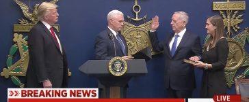 Donald Trump, Mike Pence, James Mattis (MSNBC)