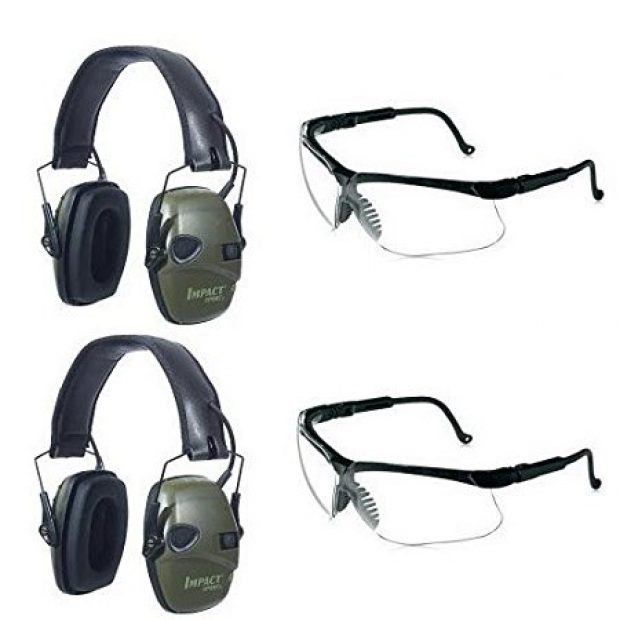 Normally $115, this two-pack of earm sport earmuffs and sharp-shooter eyewear is 31 percent off today (Photo via Amazon)