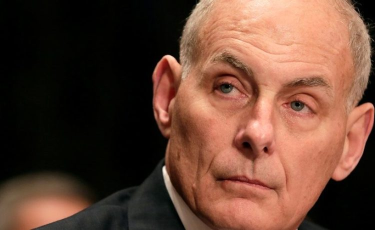 Retired General Kelly testifies before a Senate Homeland Security and Governmental Affairs Committee confirmation hearing on Kelly's nomination to be Secretary of the Department of Homeland Security on Capitol Hill in Washington