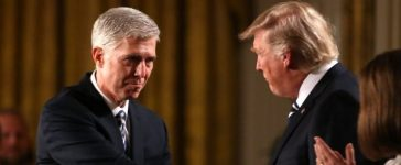 President Trump nominates Neil Gorsuch for a lifetime job on the U.S. Supreme Court, picking the 49-year-old federal appeals court judge to restore the court's conservative majority and help shape rulings on divisive issues such as abortion, gun control, the death penalty and religious rights. REUTERS/Carlos Barria