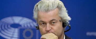 FILE PHOTO: Dutch far-right Party for Freedom (PVV) leader Geert Wilders attends a joint news conference at the European Parliament in Brussels, Belgium June 16, 2015. REUTERS/Yves Herman/File Photo