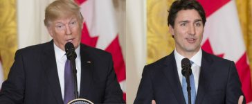 Justin Trudeau And Donald Trump (Photos: Getty Images)
