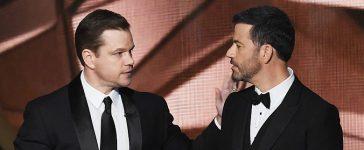 Matt Damon and Jimmy Kimmel (Photo credit: Getty Images)
