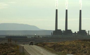 View of the Navajo power generating station near Page, Arizona