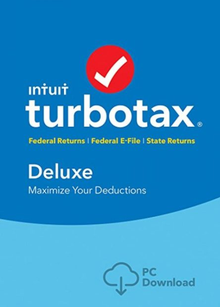 Normally $60, TurboTax Deluxe is 34 percent off (Photo via Amazon)