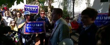Corey Stewart At Anti-GOP Rally (Phillip Stucky/The Daily Caller News Foundation)