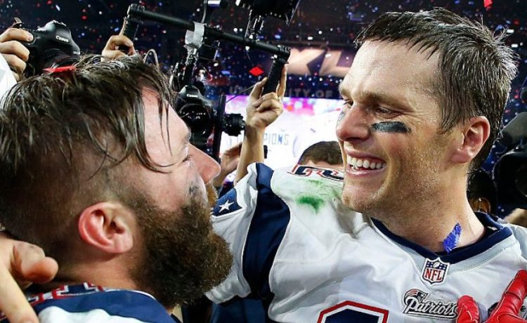 Tom Brady, Julian Edelman (Credit: Getty Images/Tom Pennington)