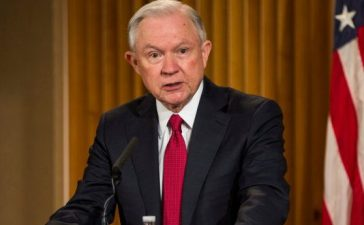 "WASHINGTON, D.C. - FEBRUARY 28: U.S. Attorney General Jeff Sessions delivers remarks at the Justice Department's 2017 African American History Month Observation at the Department of Justice on February 28, 2017 in Washington, D.C. The event also included a showing of the documentary ""Too Important to Fail: Saving America's Boys."" (Photo by Zach Gibson/Getty Images)"