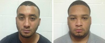 A combination photo of Marksville City Police Marshalls Norris Greenhouse (L) and Derrick Stafford are shown in these booking photos provided by Louisiana State Police in New Orleans, Louisiana, November 7, 2015. Greenhouse and a second police officer were arrested on Friday on charges of killing a 6-year old boy and critically wounding his father during a car chase that ended in a volley of bullets in Marksville, Louisiana, according to state police. [REUTERS/Louisiana State Police/Handout via Reuters]