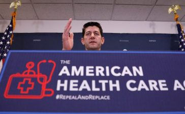 U.S. Speaker of the House Paul Ryan speaks to the media about the American Health Care Act at the Capitol in Washington, D.C., U.S. March 15, 2017. REUTERS/Aaron P. Bernstein - RTX317VW