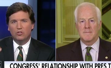 Tucker Carlson, John Cornyn (Fox News)