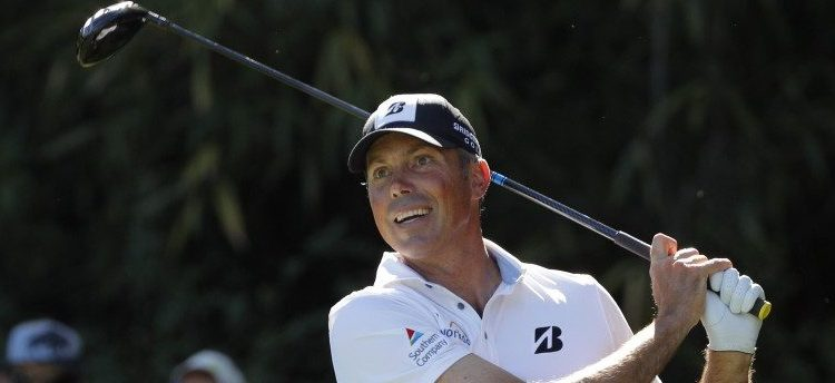 Matt Kuchar of the U.S. hits off the 14th tee in third round play during the 2017 Masters golf tournament at Augusta National Golf Club in Augusta, Georgia, U.S., April 8, 2017. REUTERS/Jonathan Ernst