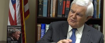 New Gingrich talks with Ginni Thoms (Sean Moody/TheDCNF)