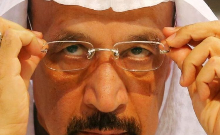 FILE PHOTO: Saudi Arabia's energy minister Khalid al-Falih adjusts his glasses during a news conference after an OPEC meeting in Vienna