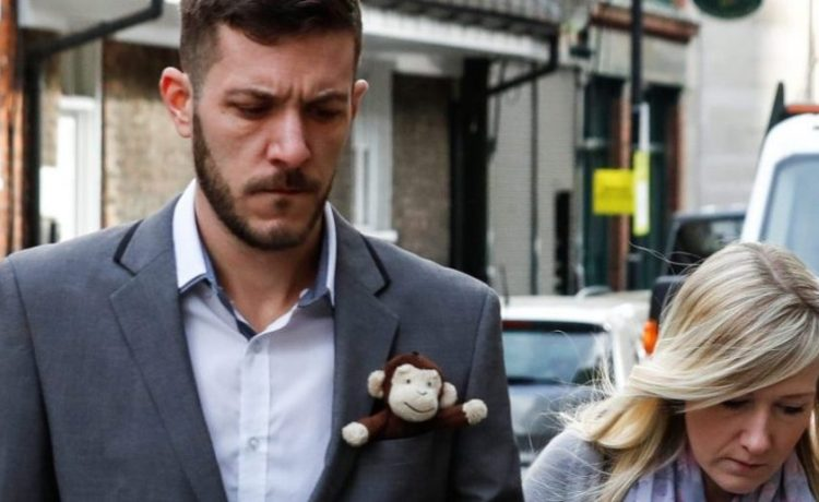 Chris Gard and Connie Yates, who are battling to take their baby Charlie to the US for treatment against advice from doctors that he should be taken off life support arrive at The High Court in London, Britain April 5, 2017. REUTERS/Eddie Keogh - RTX347VC