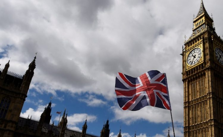 The Union Flag flies near the Houses of Parliament in London, Britain, June 7, 2017. REUTERS/Clodagh Kilcoyne