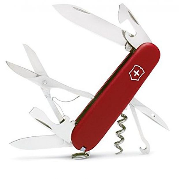 Normally $25, this Swiss Army knife is 32 percent off today (Photo via Amazon)