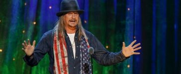 FILE PHOTO: Kid Rock inducts rock band Cheap Trick at the 31st annual Rock and Roll Hall of Fame Induction Ceremony at the Barclays Center in Brooklyn, New York, U.S. on April 8, 2016. REUTERS/Eduardo Munoz/File Photo