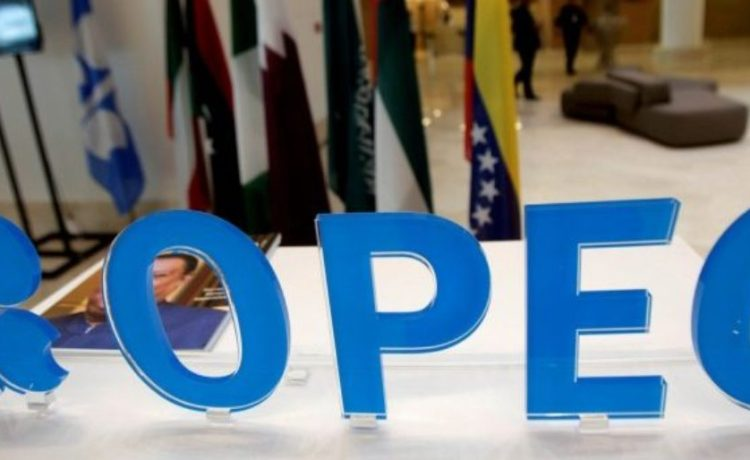 FILE PHOTO: OPEC logo is pictured ahead of an informal meeting between members of the Organization of the Petroleum Exporting Countries (OPEC) in Algiers