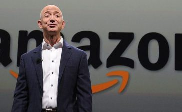 Jeff Bezos, CEO of Amazon, introduces new Kindle Paper white during a press conference on September 06, 2012 in Santa Monica, California. The new Kindle Paperwhite eReader will retail for $119 USD and ships October 1.(Photo: JOE KLAMAR/AFP/Getty Images)