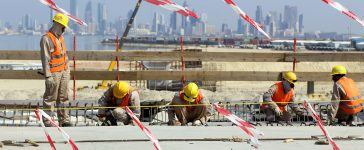 Kuwait is building a large causeway to connect the capital city, Kuwait City, with areas located north of Kuwait Bay where mega projects are planned in the future. (PHOTO: Getty Images/AFP/Yasser Al-Zayyat)