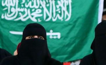 Saudi veil flag Getty Images/Marwan Naamani