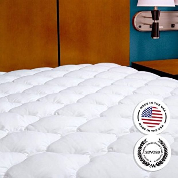Normally $98, this mattress pad is 30 percent off today (Photo via Amazon)