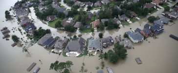 Flooded homes are shown near Lake Houston following Hurricane Harvey August 30, 2017 in Houston, Texas. The city of Houston is still experiencing severe flooding in some areas due to the accumulation of historic levels of rainfall, though the storm has moved to the north and east. (Photo: Win McNamee/Getty Images)