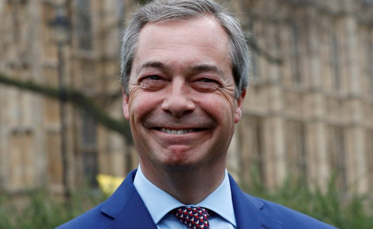 Nigel Farage, former leader of UKIP and anti-EU campaigner stands outside the Houses of Parliament, in London, Britain March 29, 2017. REUTERS/Stefan Wermuth - RC1C836AC330