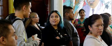 Yemeni Guerrero (C), a Deferred Action for Childhood Arrivals (DACA) recipient, attends the immigration ministry at Lincoln Methodist Church to fill out her renewal application in Chicago, Illinois, U.S. September 10, 2017. DACA recipients gathered to fill out applications to renew their permit before the October 5 deadline for current beneficiaries. Picture taken September 10, 2017. REUTERS/Joshua Lott