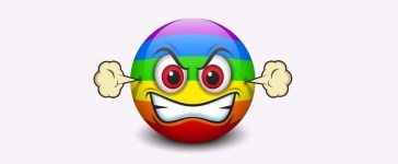 angry gay emoticon Shutterstock/Petrovic Igor