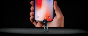 Apple Senior Vice President of Worldwide Marketing, Phil Schiller, introduces the iPhone X. REUTERS/Stephen Lam