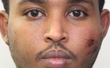 Abdulahi Hasan Sharif, 30, a Somali immigrant, is shown in this police booking photo provided in Edmonton, Alberta, Canada, October 2, 2017. Sharif faces charges including five for attempted murder linked the weekend vehicle and knife attack that injured five including a police officer. Edmonton Police Department/Handout via REUTERS