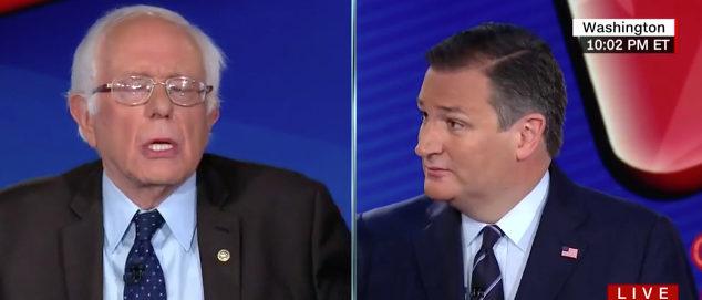 Bernie Sanders and Ted Cruz (Screenshot/CNN)