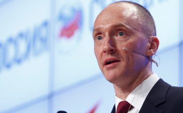 One-time advisor of Donald Trump Carter Page addresses the audience during a presentation in Moscow, December 12, 2016. REUTERS/Sergei Karpukhin