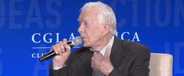 Former President Jimmy Carter speaks at the Clinton Global Initiative. (YouTube screenshot/Clinton Global Initiative)