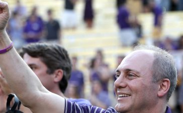 BATON ROUGE, LA - SEPTEMBER 30: House Republican Whip Steve Scalise (R-LA) attends the LSU Tigers vs Troy Trojans game at Tiger Stadium on September 30, 2017 in Baton Rouge, Louisiana. (Photo by Chris Graythen/Getty Images)